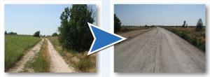 Ремонт дороги в Никополе